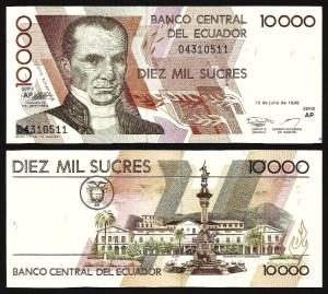 EQUADOR .n128y (ECUADOR) - 10.000 Sucres (1999) NOVA