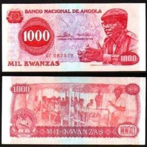 ANGOLA .n113x - 1.000 KWANZAS (1976) CIRC…Esc.) NOVA ... Rara (Cópia)