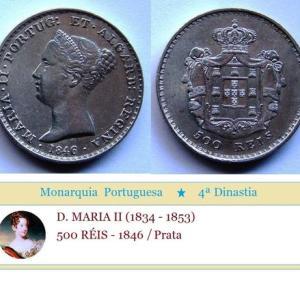 (I0902) D. MARIA II - 500 RÉIS (1846) Prata +++++ VENDIDA +++++