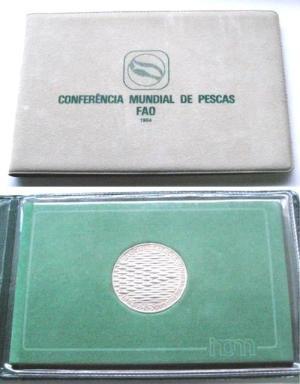 (QbCMP02) CARTEIRA DA INCM «CONF. M. PESCAS» BNC (1984) Cupro-Níquel... Esc.