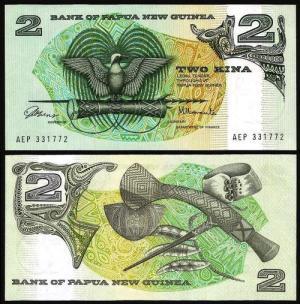 PAPUA NOVA GUINÉ .n05 (PAPUA NEW GUINEA) - 2 KINA (1981) NOVA …Esc. +++++ VENDIDA +++++