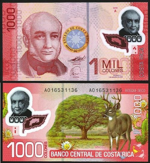 COSTA RICA .n274a - 1.000 COLONES (2009) NOVA