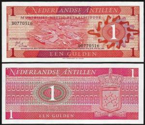 ANTILHAS HOLANDESAS .n20 (NETHERLANDS ANTILLES) - 1 GULDEN (1970) NOVA… Esc.