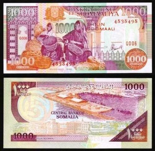 SOMÁLIA .n37 - 1.000 SHILIN (1996) NOVA