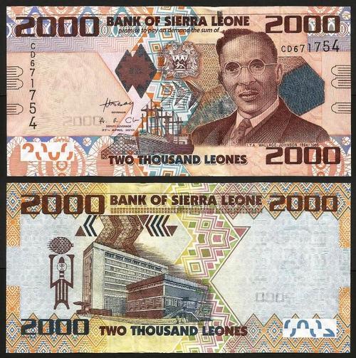 SERRA LEOA .n31b (SIERRA LEONE) - 2.000 LEONES (2010) NOVA