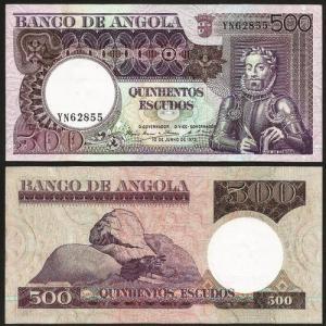 ANGOLA (26c) - 500 ESCUDOS 'Luis Camões' (1973) QNOVA +++++ VENDIDA +++++