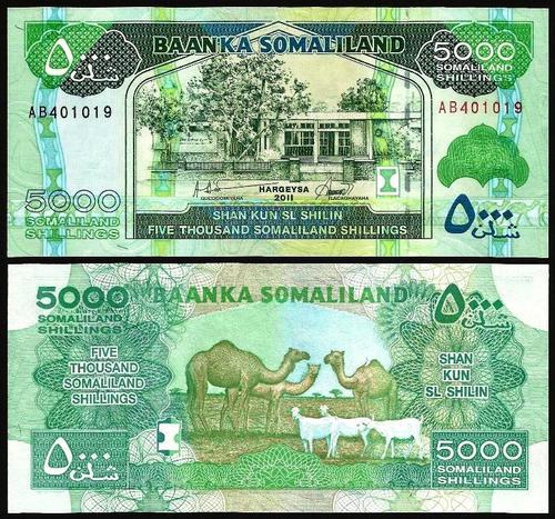 SOMALILÂNDIA .n21a (SOMALILAND) - 5.000 SHILLINGS (2011) NOVA