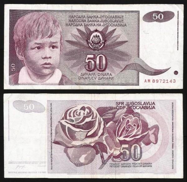 JUGOSLÁVIA .n104 (YUGOSLAVIA) - 50 DINARA (1990) CIRC... Esc.