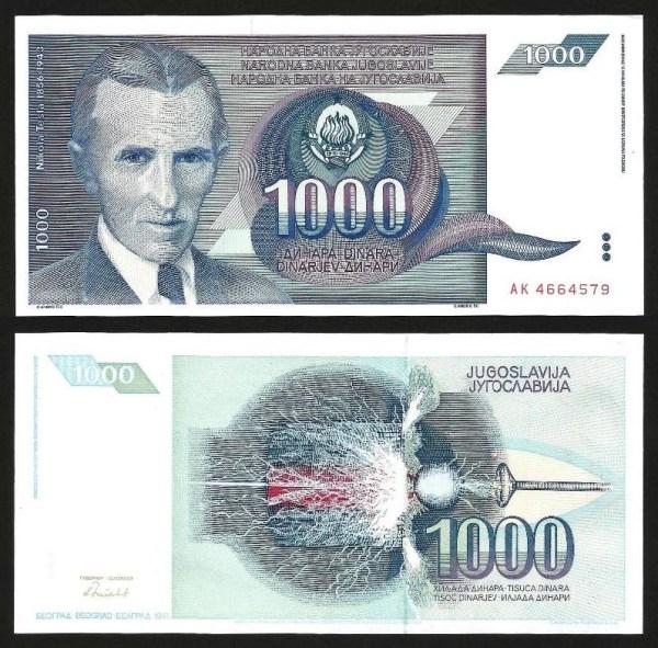 JUGOSLÁVIA .n110 (YUGOSLAVIA) - 1.000 DINARA (1991) CIRC… Esc. +++++ VENDIDA +++++