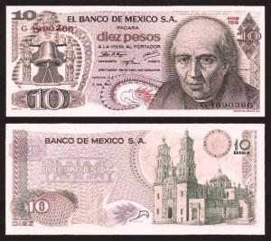 MÉXICO .n063 - 10 PESOS (1975) NOVA +++++ VENDIDA +++++ 1