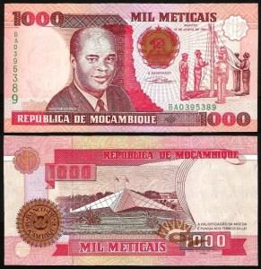 MOÇAMBIQUE .n135 (MOZAMBIQUE) - 1.000 METICAIS 'Eduardo Mondlane' (1991) NOVA