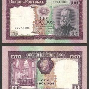 PR37A1. PORTUGAL - 100 ESCUDOS 'Pedro Nunes' Ch.6A (19.12.1961) CIRC. +++++ VENDIDA +++++ 1