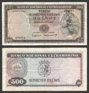 TIMOR (18d) - 500 ESCUDOS 'Régulo D. Aleixo' (1963) CIRC. … Esc. +++++ RESERVADA (L.A.) +++++