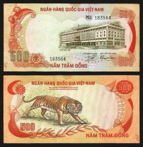 VIETNAM DO SUL .n33b (SOUTH VIET NAM) - 500 DONG (1972) Q/NOVA
