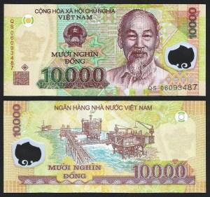 VIETNAM .n119 (VIET NAM) - 10.000 DONG (2010) NOVA +++++ RESERVADA (L.A.) +++++