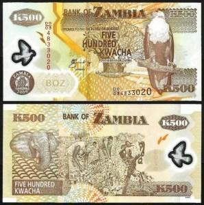 ZAMBIA .n43g - 500 KWACHA (2009) NOVA