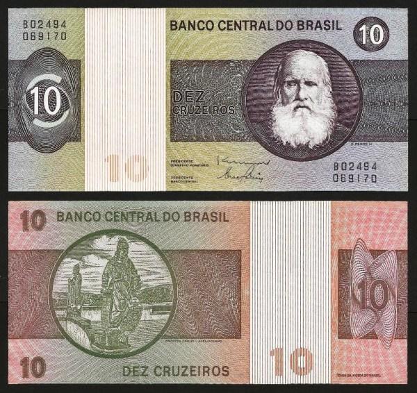 BRASIL .n193d (BRAZIL) - 10 CRUZEIROS (1980) NOVA