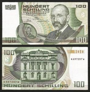 AUSTRIA .n150 - 100 SCHILLING (1984) CIRC. 1