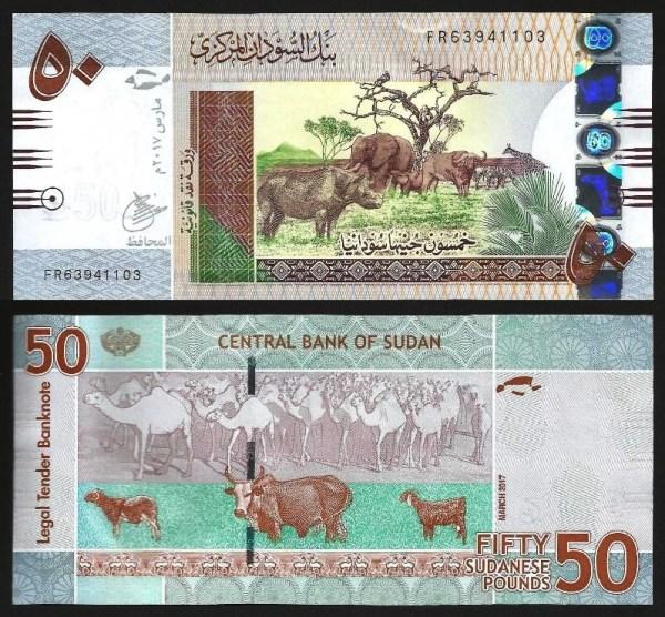 SUDÃO .n74c (SUDAN) - 50 LIBRAS (2017) NOVA