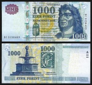 HUNGRIA .n197 (HUNGARY) - 1.000 FORINT (2015) NOVA