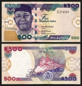 NIGÉRIA .n30n - 500 NAIRA (2015) NOVA