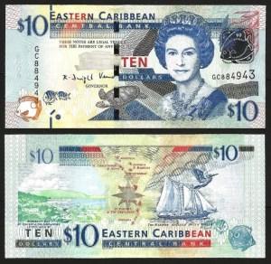 ESTADOS DAS CARAÍBAS DO LESTE .n52b (EAST CARIBBEAN STATES) - 10 DOLLARS (2012-) NOVA