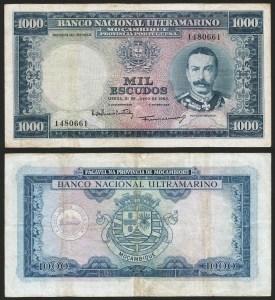 MOÇAMBIQUE (58b) - 1.000 ESCUDOS 'Mouzinho Albuquerque' (31.07.1953) CIRC… Dif