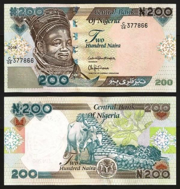 NIGÉRIA .n29 - 200 NAIRA (2016) NOVA
