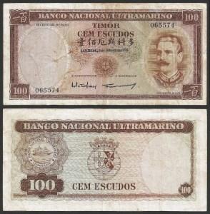 TIMOR (15c) - 100 ESCUDOS 'J. Celestino Silva' (1959) CIRC… Rara