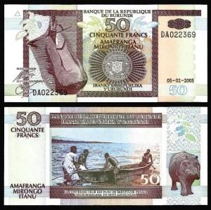 BURUNDI .n36e - 50 FRANCOS (2005) NOVA 1