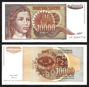 JUGOSLÁVIA .n116b (YUGOSLAVIA) - 10.000 DINARA (1992) NOVA 1