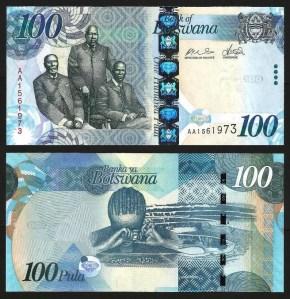 BOTSWANA .n33a - 100 PULA (2009) NOVA... Dif. +++++ VENDIDA +++++