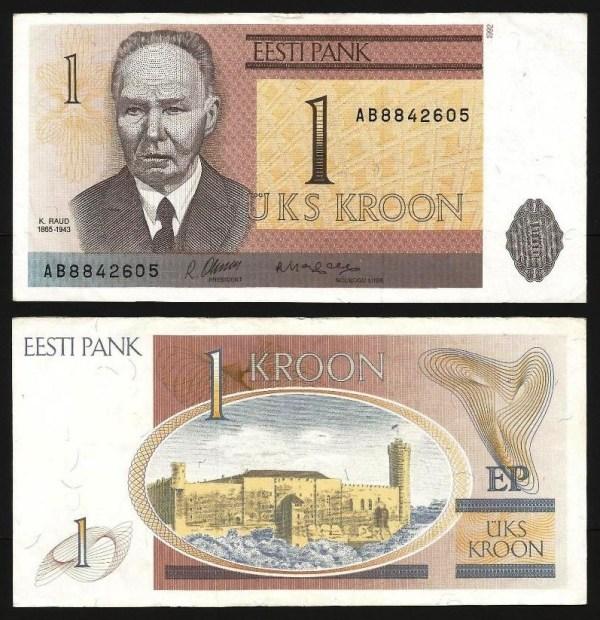 ESTÓNIA .n69 - 1 KROON (1992) BELA