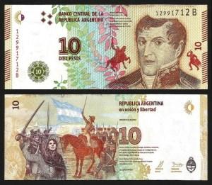 ARGENTINA .n360b - 10 PESOS 'M. Belgrano' (2016-) NOVA