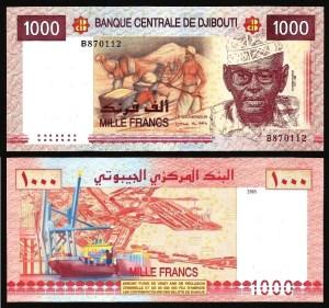 DJIBUTI .n42 (DJIBOUTI) - 1.000 FRANCOS (2005) NOVA