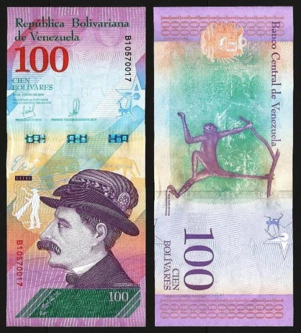 VENEZUELA .106a - 100 BOLÍVARES 'Soberanos' (15.01.2018) NOVA