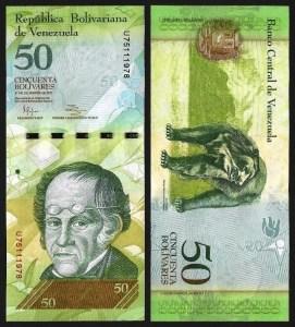 VENEZUELA .n92g - 50 BOLÍVARES (27.12.2012) NOVA