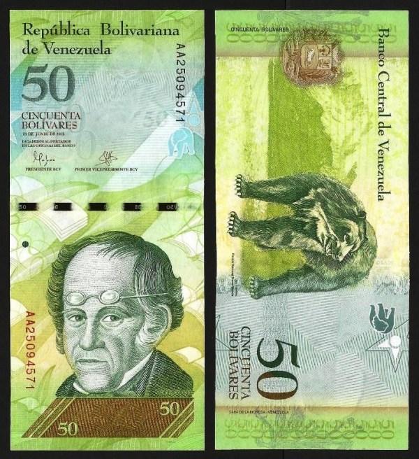 VENEZUELA .n92j - 50 BOLÍVARES (23.06.2015) NOVA