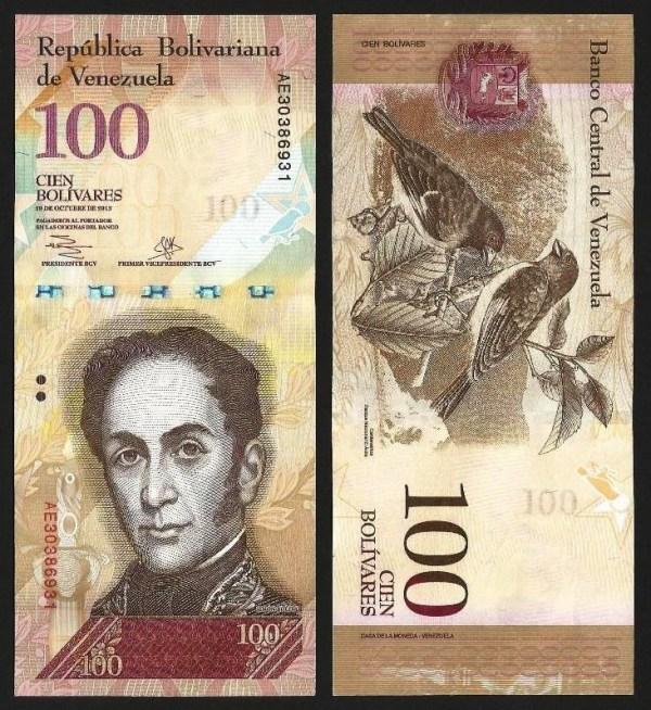 VENEZUELA .n93g - 100 BOLÍVARES (29.10.2013) NOVA