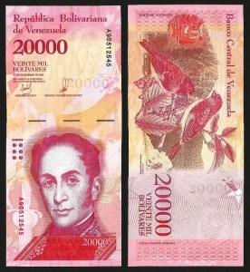 VENEZUELA .n99b - 20.000 BOLÍVARES (13.12.2017) NOVA