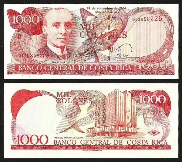 COSTA RICA .n264f - 1.000 COLONES (2005) NOVA