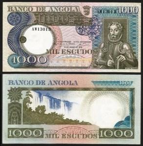 ANGOLA (31)5 - 1.000 ESCUDOS 'Luis Camões' (1973) NOVA