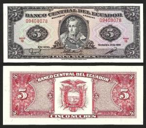 EQUADOR .n113d2 (ECUADOR) - 5 SUCRES (22.11.1988) NOVA