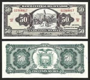 EQUADOR .n122 (ECUADOR) - 50 SUCRES (22.11.1988) NOVA