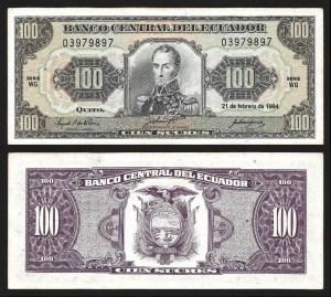 EQUADOR .n123Ac (ECUADOR) - 100 SUCRES (21.02.1994) QNOVA