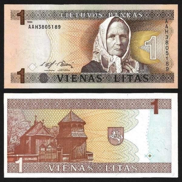 LITUÂNIA .n53 (LITHUANIA) - 1 LITAS (1993) NOVA
