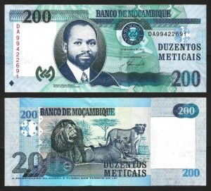 MOÇAMBIQUE .n152a (MOZAMBIQUE) - 200 METICAIS 'Samora Machel' (2011) NOVA… Esc. 1
