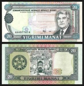 TURQUEMENISTÃO .n04b (TURKMENISTAN) - 20 MANAT (1995) NOVA