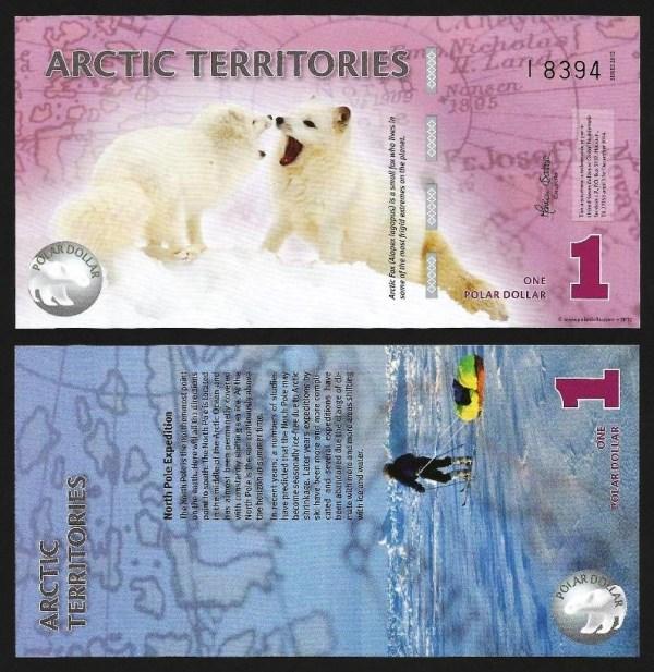 ÁRCTICO .n01 (ARCTIC TERRITORIES) - 1 DOLLAR (2012) NOVA