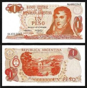 ARGENTINA .n293 - 1 PESO (1974) NOVA